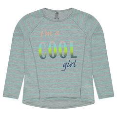 Asymmetrical fleece sweatshirt with print
