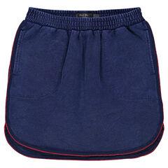 Junior - Slub fleece short skirt