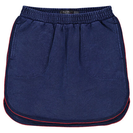 Junior - Slub fleece short skirt