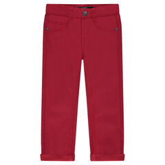 Plain twill trousers