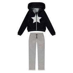 Junior - Sweatsuit with a velvet jacket and fleece pants