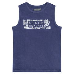 Junior - Jersey tank top with a printed message