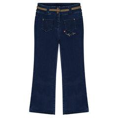 Fleece flare jeans
