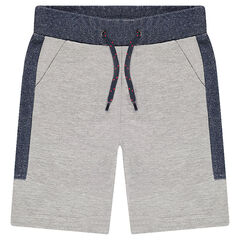 Two-tone fleece bermuda shorts