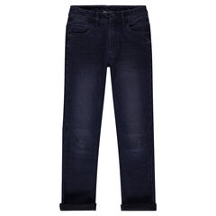 Junior - Distressed and crinkled-effect slim fit jeans