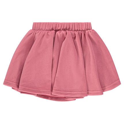 Ribbed velvet skirt