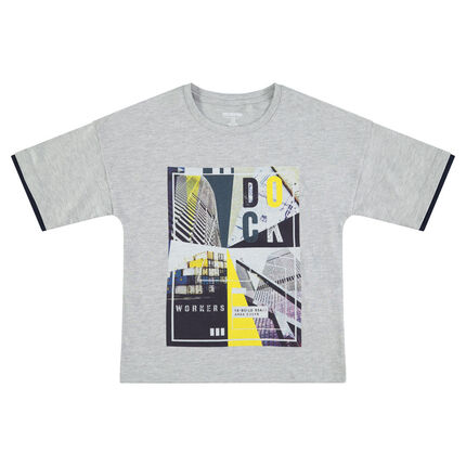 Junior - Short-sleeved jersey tee-shirt with a colorful printed motif