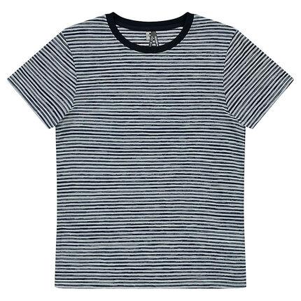 Junior - Tee-shirt manches courtes rayé all-over