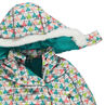 Printed ski pilot suit, microfleece lined with removable hood