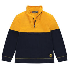 Junior - Two-tone microfleece sweatshirt