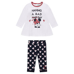 Tunic and leggings ensemble with Disney Minnie Mouse print