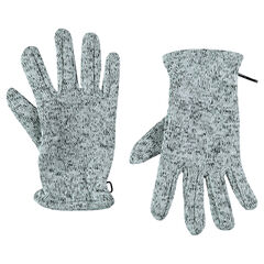 Microfleece-lined twisted knit gloves