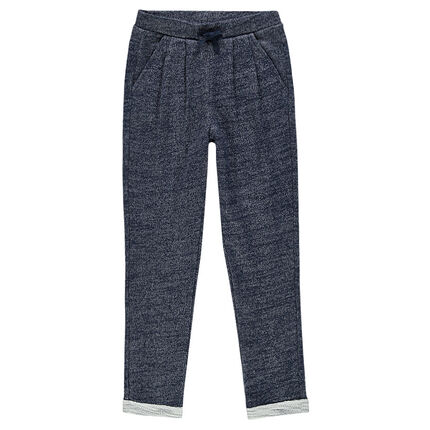 Junior - Loose-fitting sparkly fleece pants.
