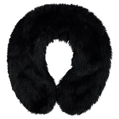 Textured fake fur collar