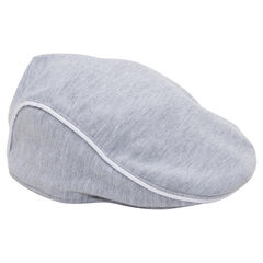 Jersey flat cap with contrasting trim
