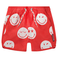 Swim trunks with an allover ©Smiley motif