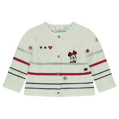 Knit vest lined in jersey with embroidered Disney Minnie