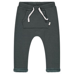 Sarouel-style fleece sweatpants with sherpa lining