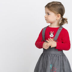 Long-sleeved tee-shirt with Disney Minnie Mouse print