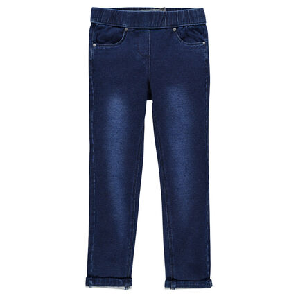 Junior - Denim-aspect, fleece jeggings