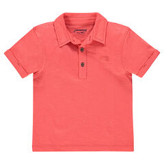 Junior - Short sleeve plain-color jersey polo shirt