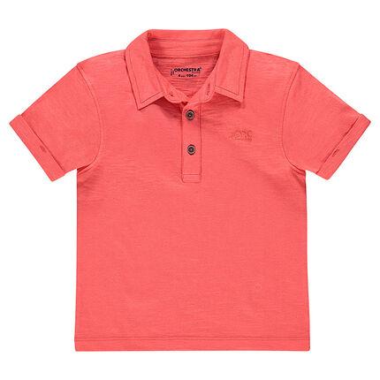 Junior - Short sleeve plain-color jersey polo shirt