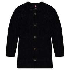 Junior - Long chunky knit cardigan