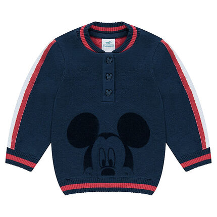 Double knit sweater with a velvet ©Disney Mickey Mouse print