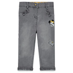 Slim fit knit jeans with Disney Minnie Mouse embroidery
