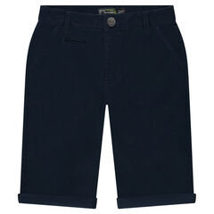 Junior - Bermuda shorts in plain twill