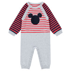 Long retro-style knit jumpsuit with ©Disney Mickey Mouse screenprint