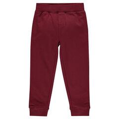 Junior - Plain-colored fleece jogging pants