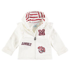 Fleece jacket with sherpa lining and ©Disney Minnie Mouse-shaped badges