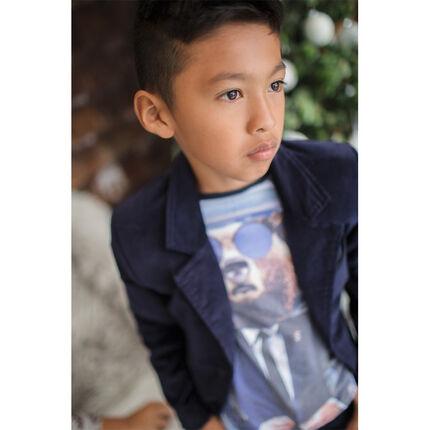Junior - Long-sleeved tee-shirt with bear print