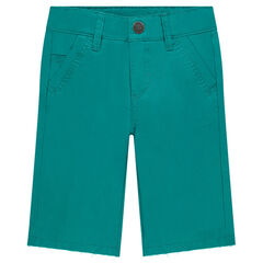 Blue twill Bermuda shorts