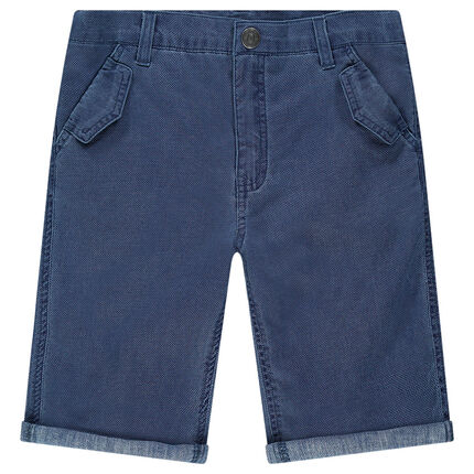 Junior - Woven cotton bermuda shorts with pockets