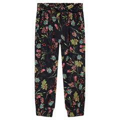 Fluid pants with allover flowers
