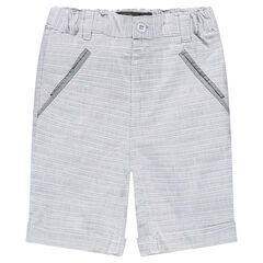 Cotton bermuda shorts with trendy stripes