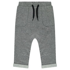 Twisted fleece sweatpants