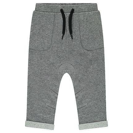 Twisted fleece sweatpants