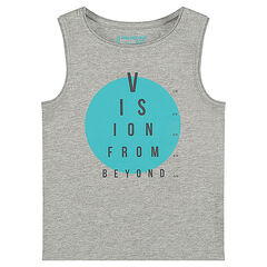 Jersey tank top with decorative messages
