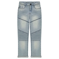 Junior - Used-effect skinny fit 7/8 jeans with tears