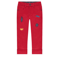Red pants with tears