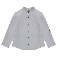 Fancy cotton shirt with mao collar