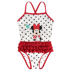 1-piece swimsuit with polka dots and Disney Minnie Mouse print