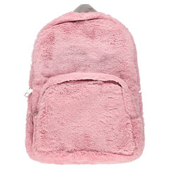 Backpack in fake fur