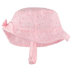 Sun hat in eyelet embroidery