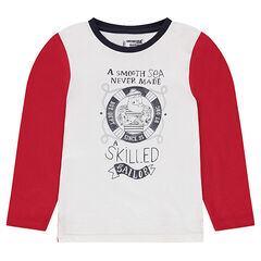Jersey long sleeve t-shirt with printed sailor