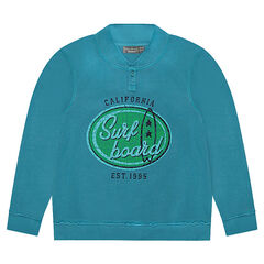Junior - Fleece Sweatshirt with Printed Front