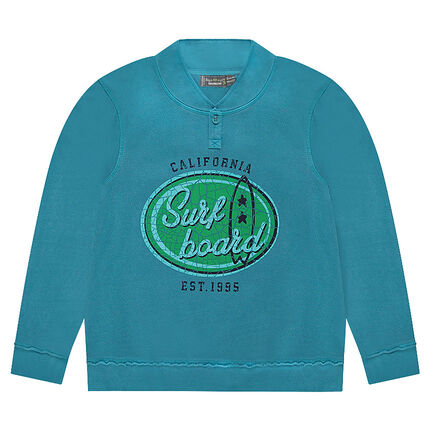 Junior - Fleece Sweatshirt with Printed Front